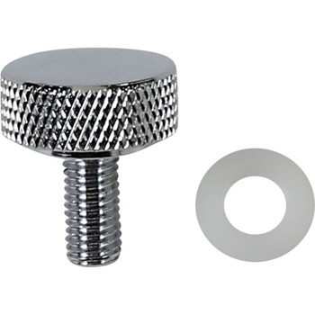 """Drag Specialties Smooth 1/4""""-28 Seat Mounting Knob for Harley FXR - Chrome"""