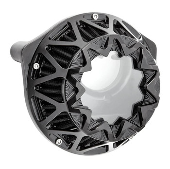 Arlen Ness Crossfire Air Cleaner for Harley Twin Cam Cable Throttle - Gloss Black