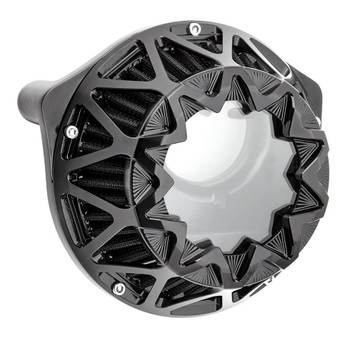Arlen Ness Crossfire Air Cleaner for Harley Twin Cam Electronic Throttle - Gloss Black