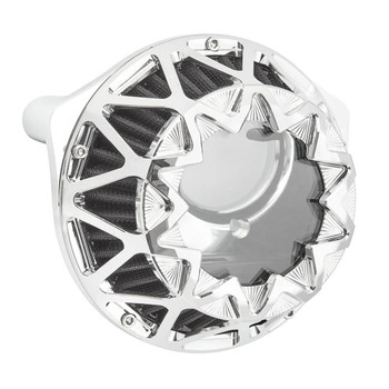 Arlen Ness Crossfire Air Cleaner for Harley Twin Cam Electronic Throttle - Chrome