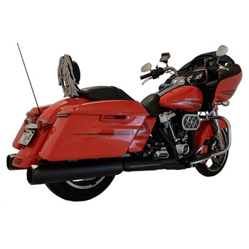 "TAB Performance 4.5"" B.A.M. Stick Slip-On Mufflers for 2017-2021 Harley Touring - Black"