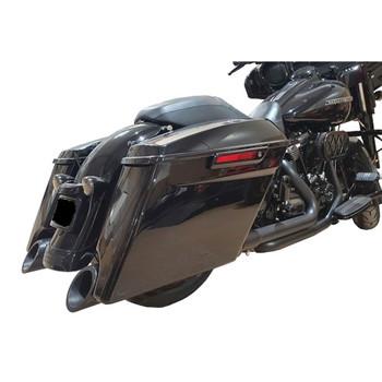 "TAB Performance 4.5"" B.A.M. Stick Slip-On Mufflers for 1995-2016 Harley Touring - Black"