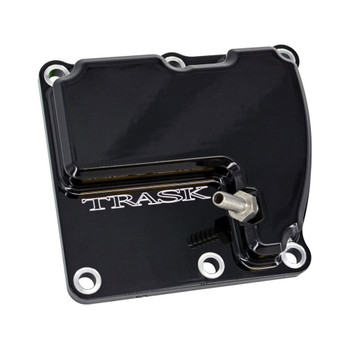 Trask Vented Transmission Top Cover for Harley M8 - Gloss Black