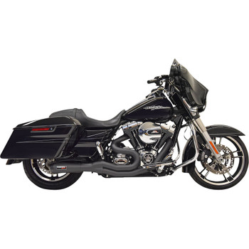 Bassani Road Rage II 2-1 Mid-Length Exhaust for 2007-2016 Harley Touring - Black
