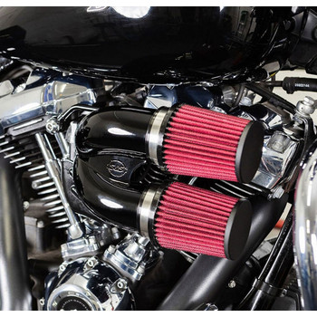 S&S Tuned Induction Air Cleaner Kit for 2017-2020 Harley M8 - Gloss Black
