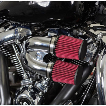 S&S Tuned Induction Air Cleaner Kit for 2017-2020 Harley M8 - Chrome