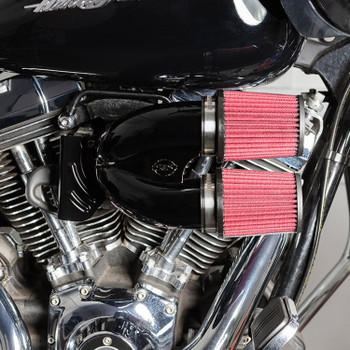 S&S Tuned Induction Air Cleaner Kit for Harley Twin Cam Electronic Throttle - Gloss Black