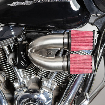 S&S Tuned Induction Air Cleaner Kit for Harley Twin Cam Electronic Throttle - Stainless Steel