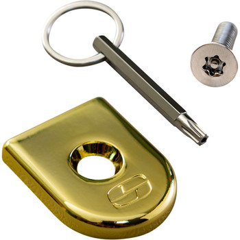 Saddlemen Security Seat Screw for Harley - Gold