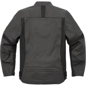 Icon Men's Motorhead 3 Leather Jacket - Stealth Black