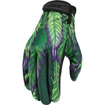 Icon Hooligan Gloves - Green Ritemind