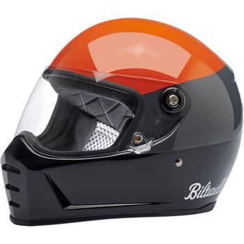 Biltwell Lane Splitter Helmet - Podium Gloss Orange/ Gray/ Black