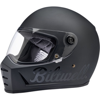 Biltwell Lane Splitter Helmet - Flat Black Factory