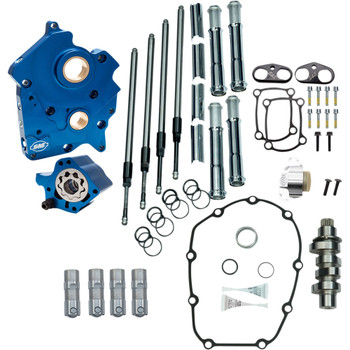 S&S Chain Drive Camchest Kit for Harley M8 Oil-Cooled - 475 Cam - Chrome