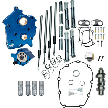 S&S Chain Drive Camchest Kit for Harley M8 Oil-Cooled - 465 Cam - Chrome
