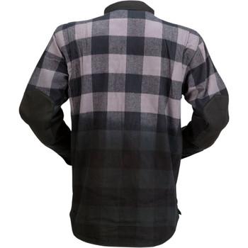 Z1R Duke Flannel Shirt - Ombre Gray/Black