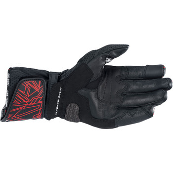 Alpinestars Twin Ring Leather Gloves - Black/Red