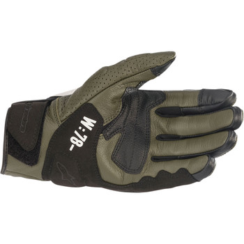 Alpinestars Kei Leather Gloves - Green/Black