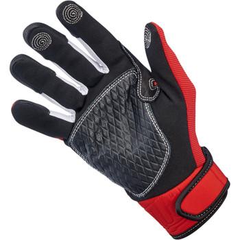Biltwell Baja Gloves - Red/Black