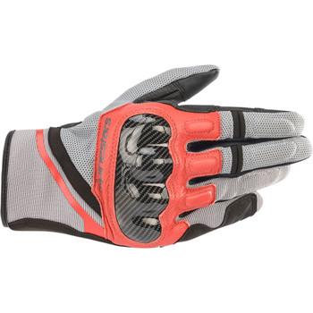 Alpinestars Chrome Gloves - Red/Gray