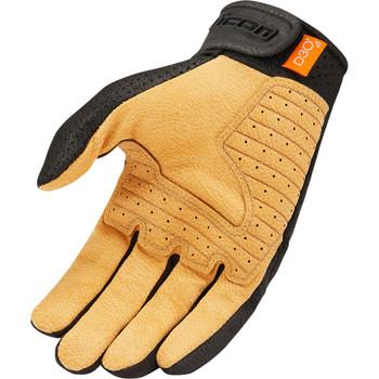 Icon Airform Gloves - Black/Tan