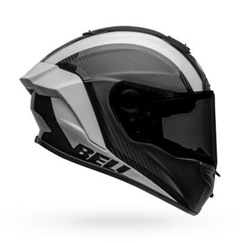 Bell Race Star Flex DLX Helmet - Tantrum 2 Matte/Gloss Black/White
