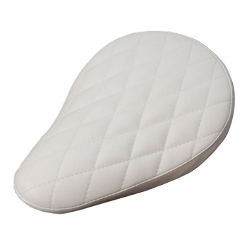 Sully's Customs Diamond Stitch Solo Seat - White