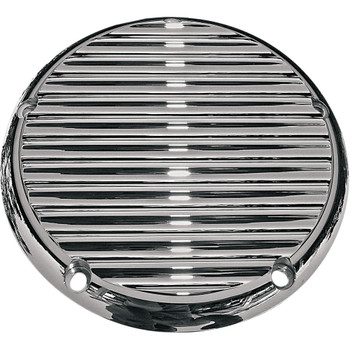 Joker Machine Finned Derby Cover for 1999-2018 Harley Big Twin - Chrome