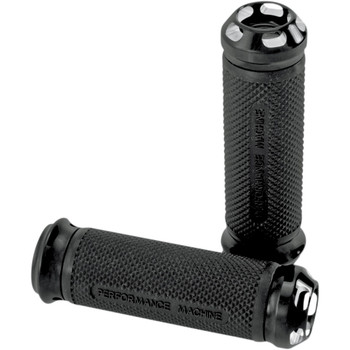 Performance Machine Elite Apex Grips for Harley Electronic Throttle - Contrast Cut