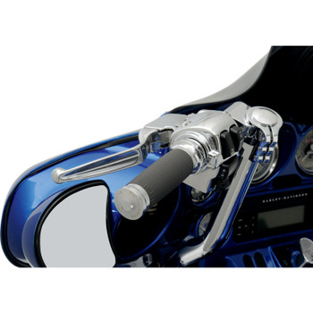 Performance Machine Contour Renthal Grips for Harley Electronic Throttle - Chrome