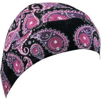Zan Headgear Purple Paisley Flydanna Headwrap