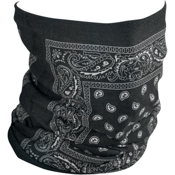 Zan Headgear Fleece-Lined Black Paisley Motley Tube