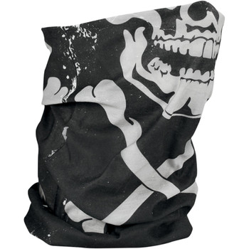 Zan Headgear Fleece-Lined Skull & Crossbones Motley Tube
