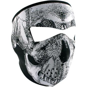 Zan Headgear Black & White Skull Face Mask