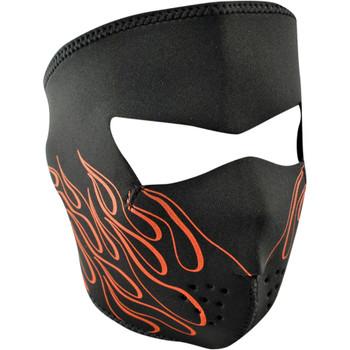 Zan Headgear Orange Flame Face Mask