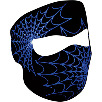 Zan Headgear Glow in the Dark Spiderweb Face Mask