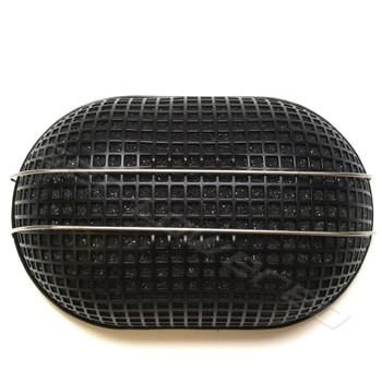 V-Twin Mfg. Black Oval Turbo Mesh Air Cleaner for Bendix-Keihin Carbs