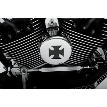 Drag Specialties Maltese Cross Horn Cover - Chrome
