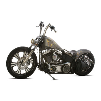 Custom Chrome Lucky Sucker Gas Tank for Harley Softail