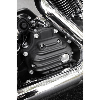 EMD Ribbed Transmission Side Covers for Harley Big Twin