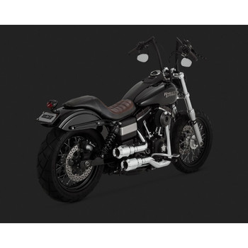 Vance & Hines Hi-Output Grenades 2-Into-2 Exhaust for 2006-2016 Harley Dyna