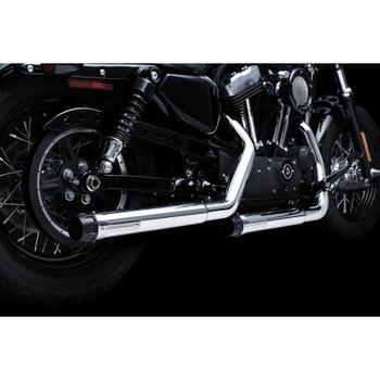 """Crusher 2.5"""" Maverick Slip-On Exhaust Mufflers for Harley Sportster"""