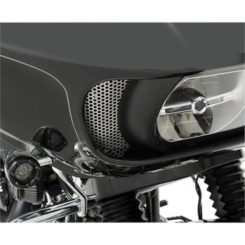 Klock Werks Round Fairing Vent Screen for 2015-2020 Harley Road Glide - Chrome