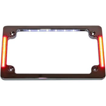 Custom Dynamics Tri-Horizontal License Plate Frame with Flush-Mount LEDs