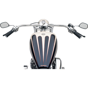 "Burly 1"" Chrome Bikini Beach Bars"