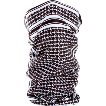 Zan Headgear Fleece-Lined Houndstooth Black and White Motley Tube
