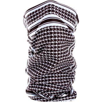 Zan Headgear Fleece-Lined Houndstooth Black and White Motley Tube