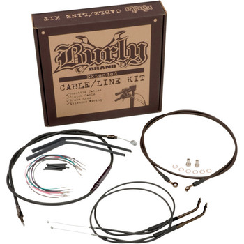 Burly Black Vinyl Cable and Brake Line Kit for Softail