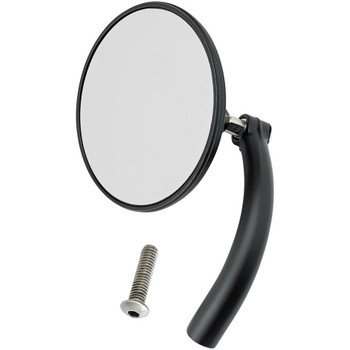Biltwell Utility Mirror Round Perch Mount - Black