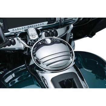 Kuryakyn Tri-Line Fuel Door for 2008-2016 Harley Touring - Chrome